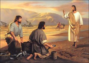 Jezus i Szymon nad jeziorem