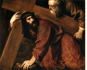 Jezus niesie krzyż