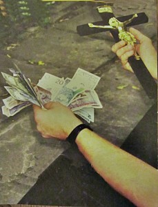 pieniądze i krzyż